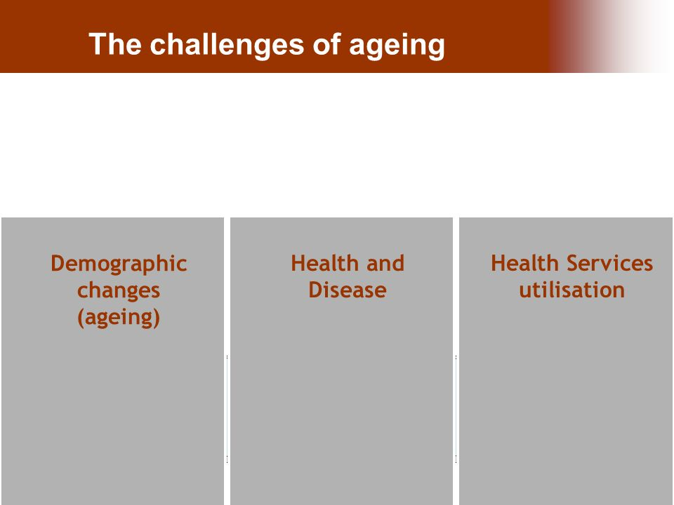 26.Nov.10 | Paula Santana The challenges of ageing Health and Disease Health Services utilisation Demographic changes (ageing)