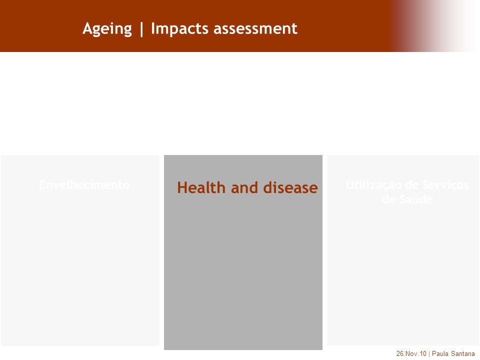 26.Nov.10 | Paula Santana Ageing | Impacts assessment Health and disease Utilização de Serviços de Saúde Envelhecimento