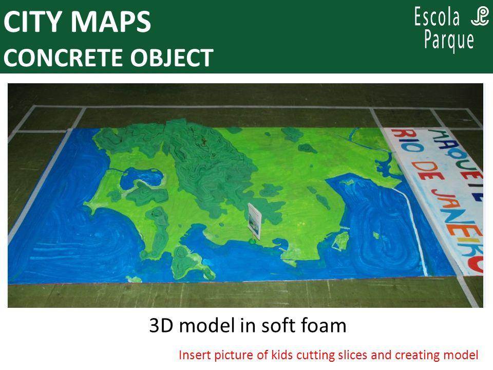 PARA PENSAR, ENQUANTO SE PLANEJA: CITY MAPS NEW LEARNING OBJECT Projection over concrete model