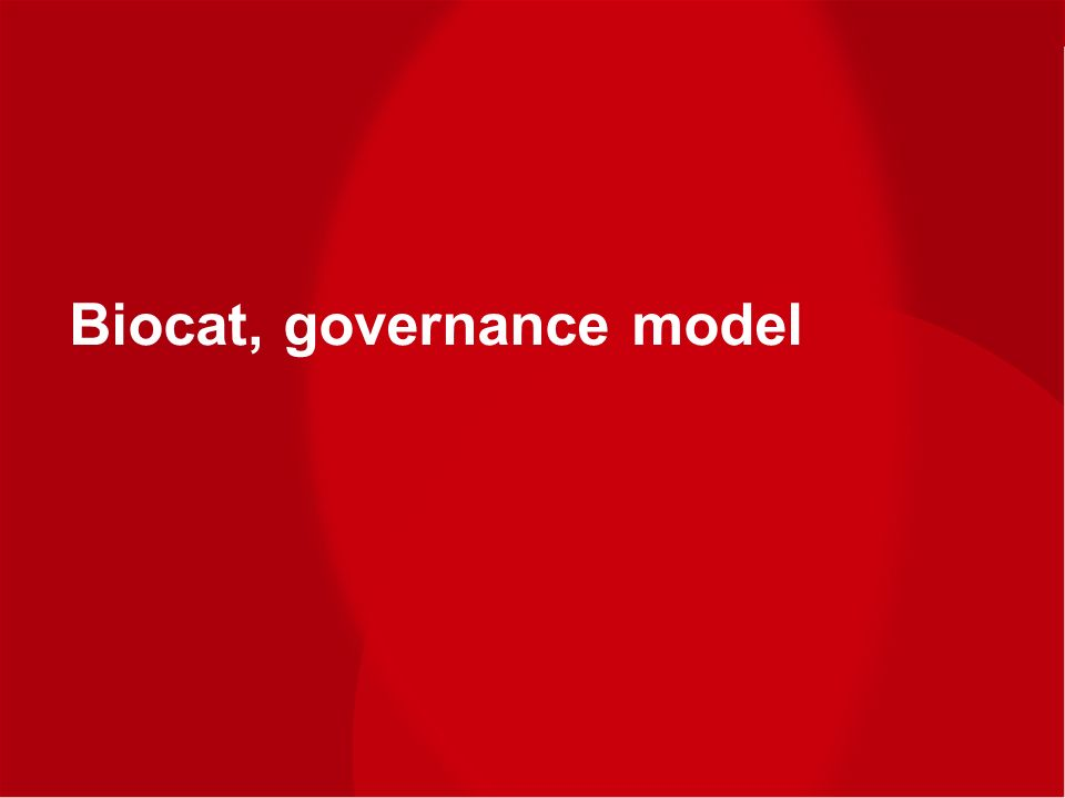 www.biocat.cat Workshop Brazil – EU on Cluster x Cluster Cooperation 14th November 2012 Biocat, governance model