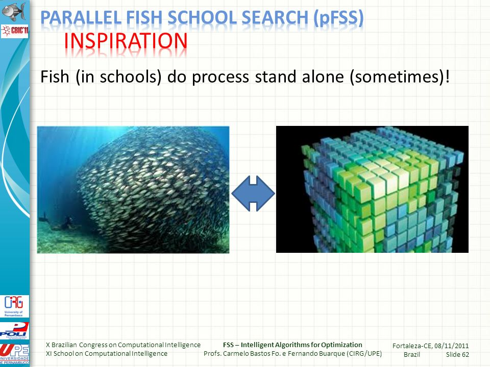 Fish (in schools) do process stand alone (sometimes).