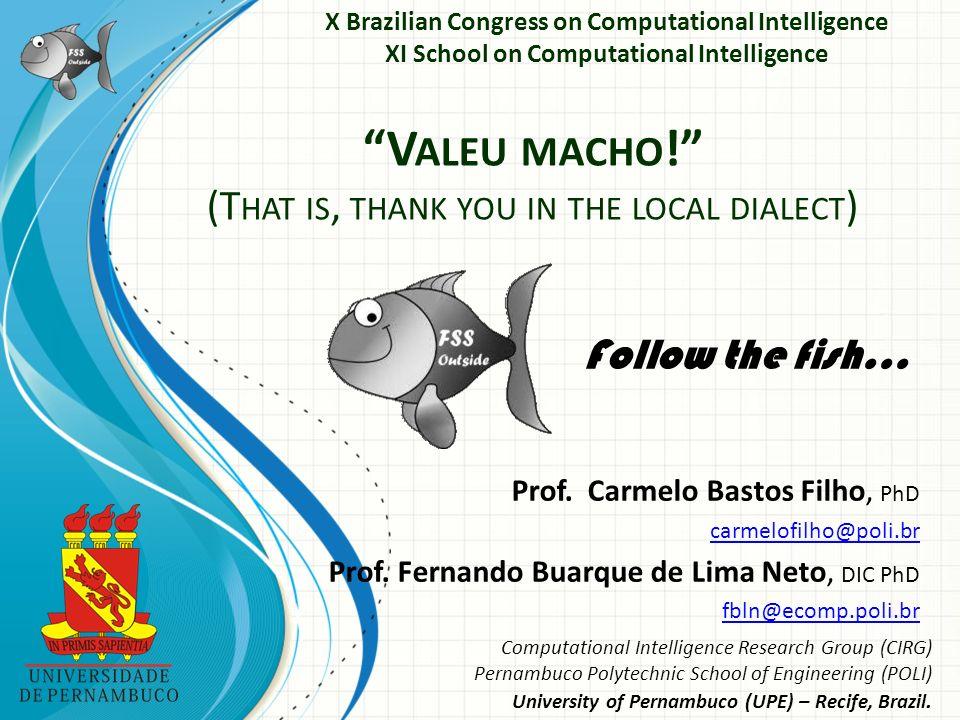 Prof. Carmelo Bastos Filho, PhD carmelofilho@poli.br Prof.
