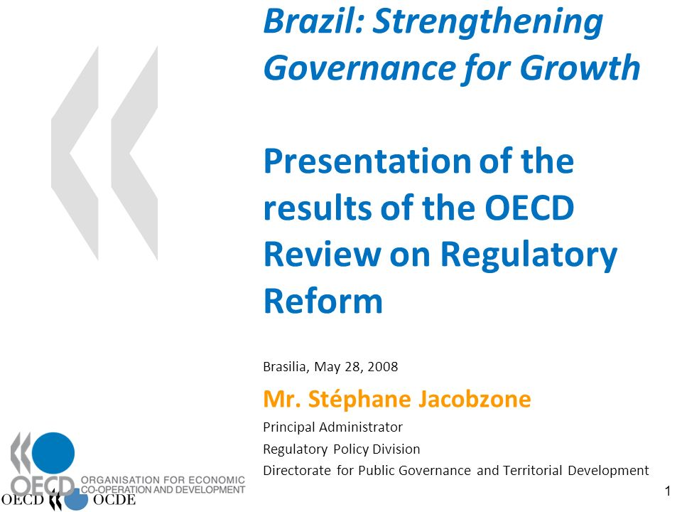 82 Policy recommendations Consolidate the autonomy and statute of Brazilian regulatory authorities Strengthen the strategic framework for planning and decision making in regulated sectors Strengthen social accountability mechanisms without undermining the authorities autonomy Systematise cooperation with competition authorities Improve co-ordination mechanisms in specific sectors Further strengthen multi-level coordination mechanisms to strengthen safety and performance Strengthen the powers of the Brazilian regulators Consider institutional and legal changes to streamline appeals processes