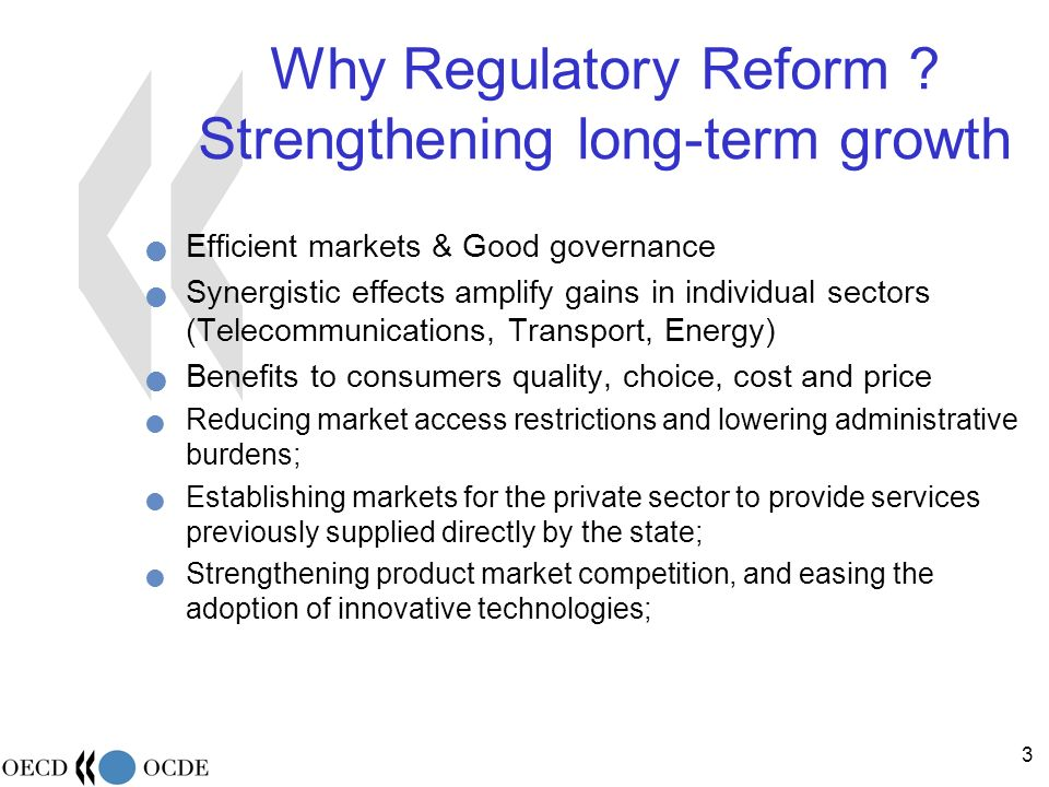 24 REGULATORY AUTHORITIES Main issues for discussion: 1.Introduction and general aspects 2.Trends and regulatory frameworks in the selected sectors 3.Regulatory governance Independence and accountability Horizontal aspects Powers for quality regulation Performance Assessment 4.Conclusions and recommendations