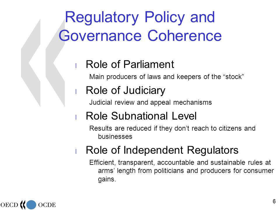 57 Independence the formal dimension The executive structure of the regulator: Single head / board Duration, nomination, renewal (link with Parliamentary terms?) Rules for the staff vs.