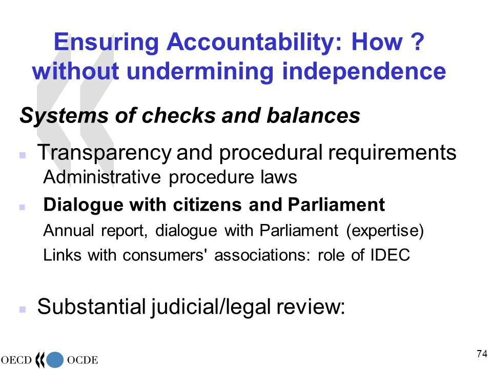 74 Ensuring Accountability: How .