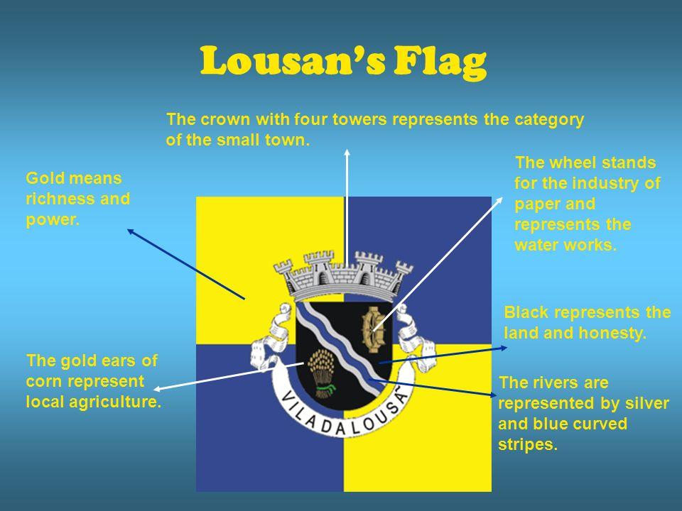 Lousans Flag Black represents the land and honesty.