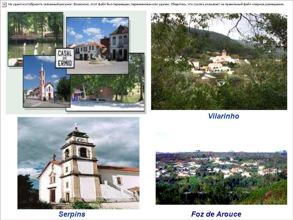 Lousãs parishes Casal de Ermio Foz de Arouce Gândaras Lousã Vilarinho Serpins