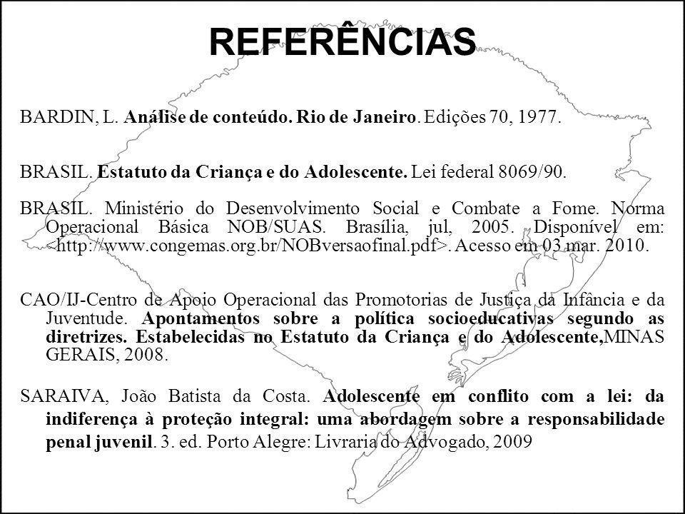REFERÊNCIAS BARDIN, L. Análise de conteúdo. Rio de Janeiro.