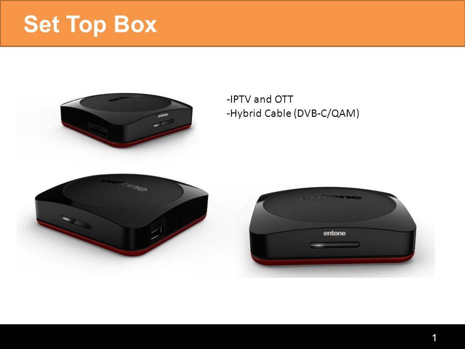 connecting the home Set Top Box 1 -IPTV and OTT -Hybrid Cable (DVB-C/QAM)