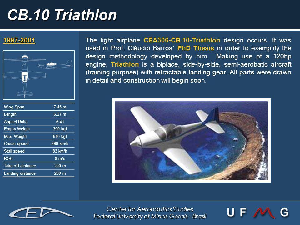 Center for Aeronautics Studies Federal University of Minas Gerais - Brasil CB.10 Triathlon 1997-2001 1997-2001 The light airplane CEA306-CB.10-Triathl