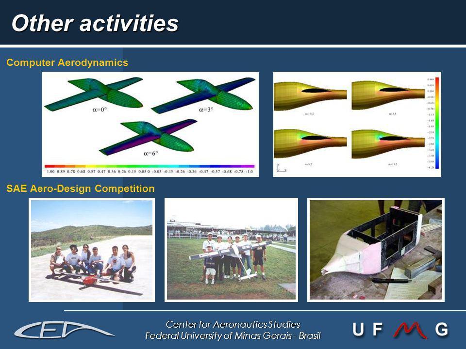 Center for Aeronautics Studies Federal University of Minas Gerais - Brasil Other activities Computer Aerodynamics SAE Aero-Design Competition