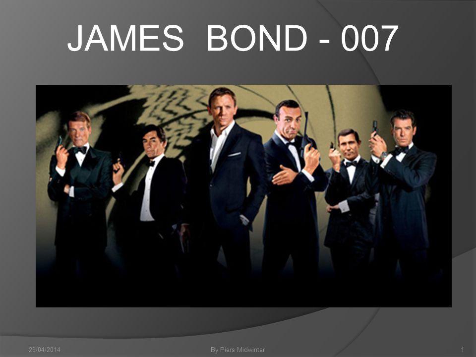 Commander James Bond… A fictional character created in 1953 by writer Ian Fleming, who featured him in twelve novels and two short-story collections.