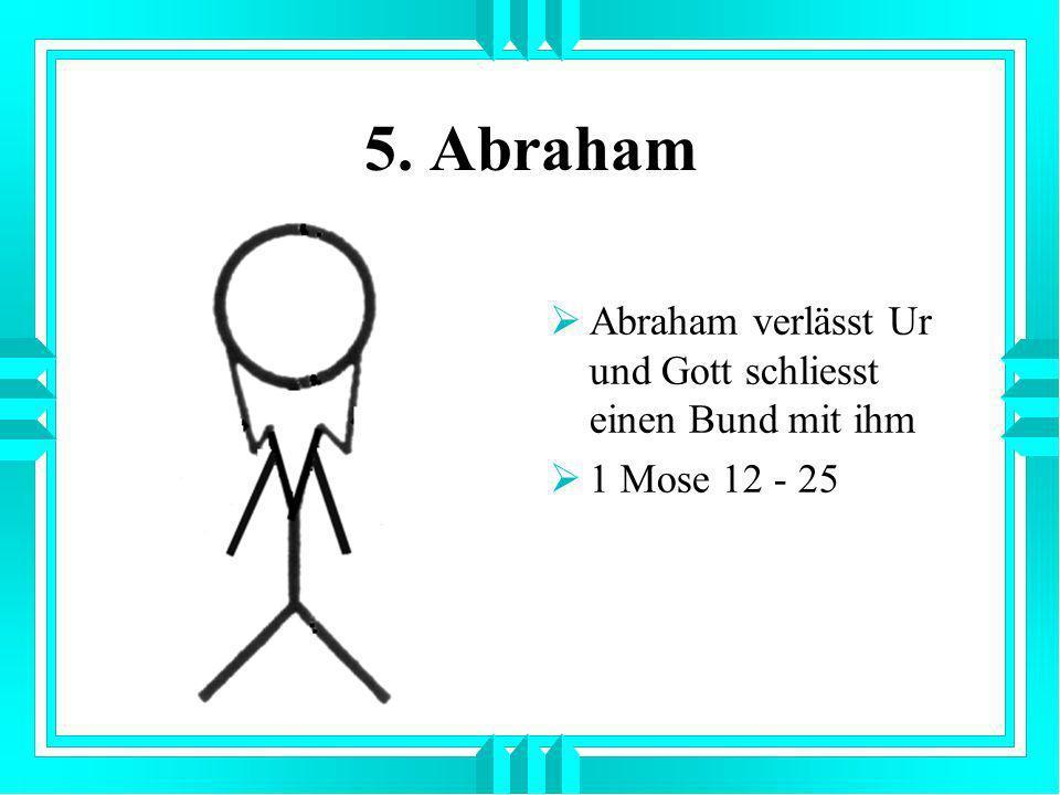 5. Abraham Abraham verlässt Ur und Gott schliesst einen Bund mit ihm 1 Mose 12 - 25