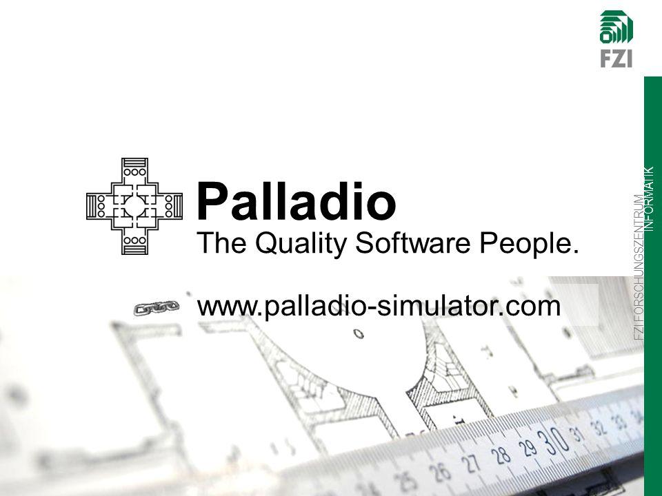 FZI FORSCHUNGSZENTRUM INFORMATIK Palladio The Quality Software People. www.palladio-simulator.com