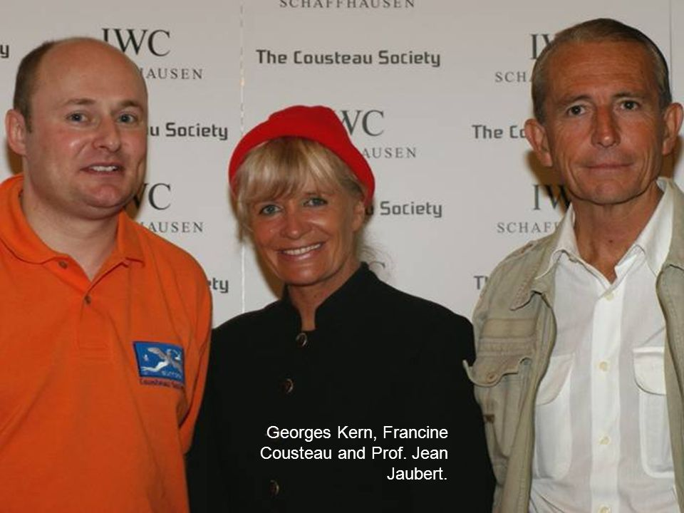 Georges Kern, Francine Cousteau and Prof. Jean Jaubert.