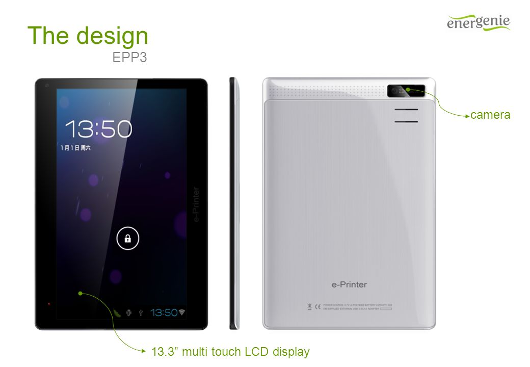 The design camera 13.3 multi touch LCD display EPP3