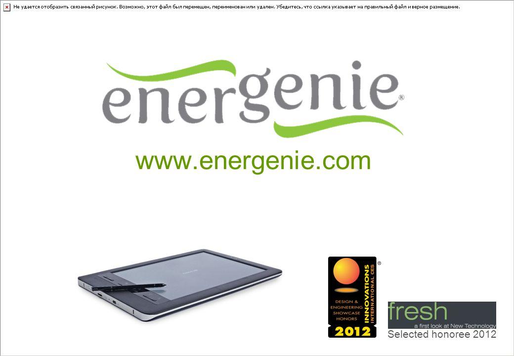 www.energenie.com Selected honoree 2012