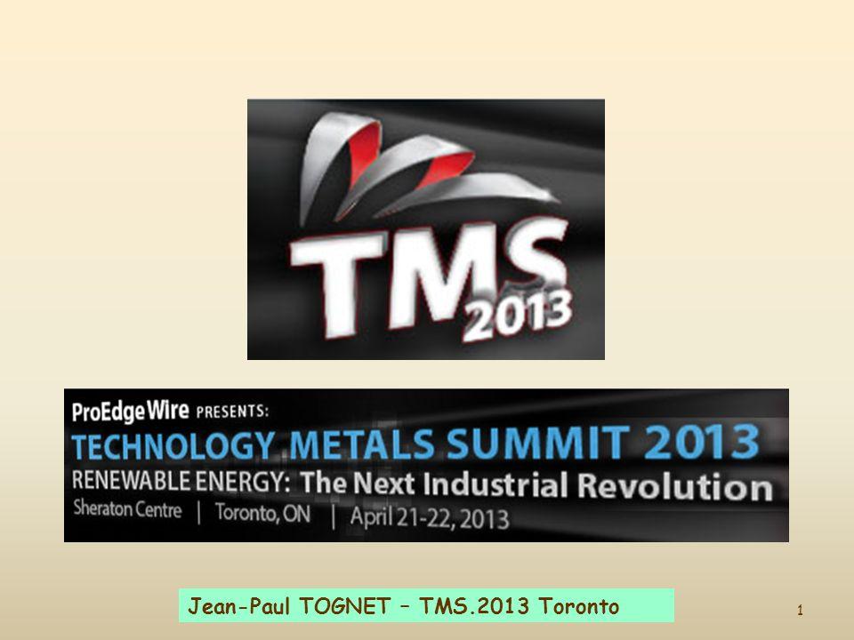 1 Jean-Paul TOGNET – TMS.2013 Toronto