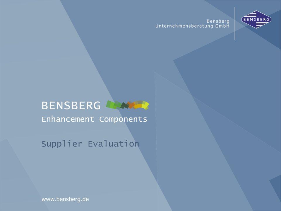 Bensberg GmbHSupplier Evaluation