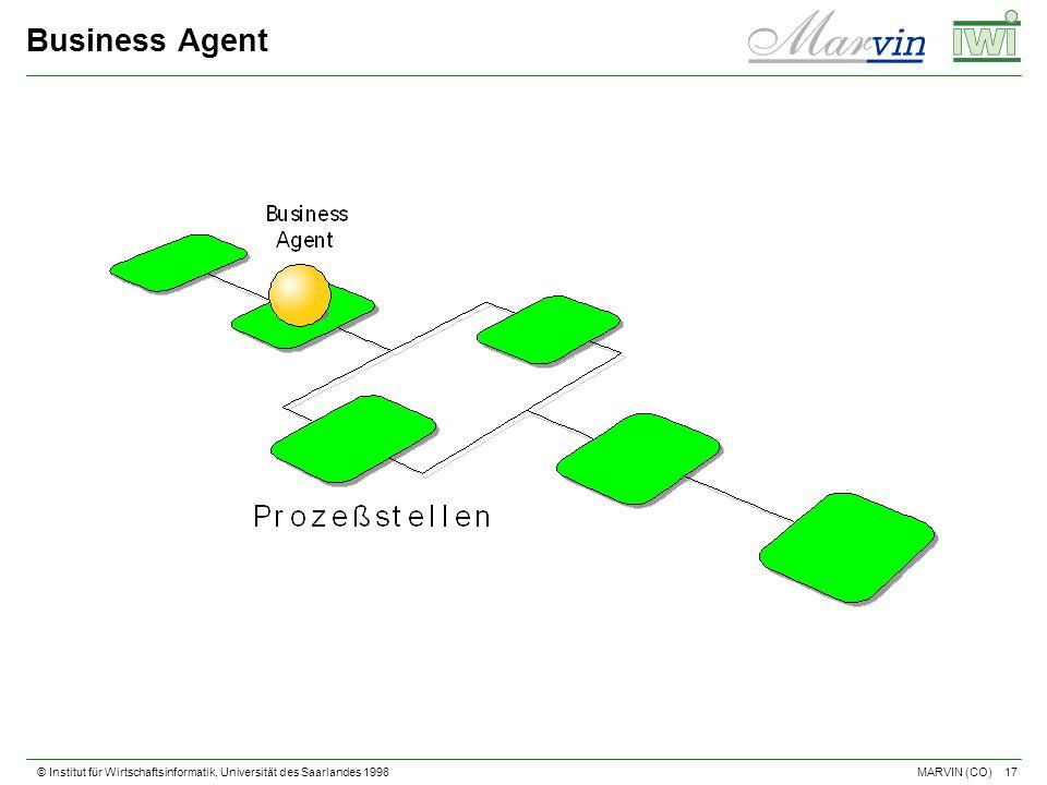 © Institut für Wirtschaftsinformatik, Universität des Saarlandes 1998 17 MARVIN (CO) Business Agent