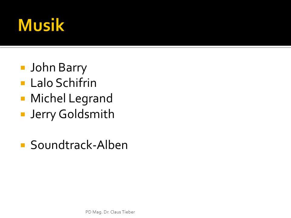 John Barry Lalo Schifrin Michel Legrand Jerry Goldsmith Soundtrack-Alben PD Mag. Dr. Claus Tieber