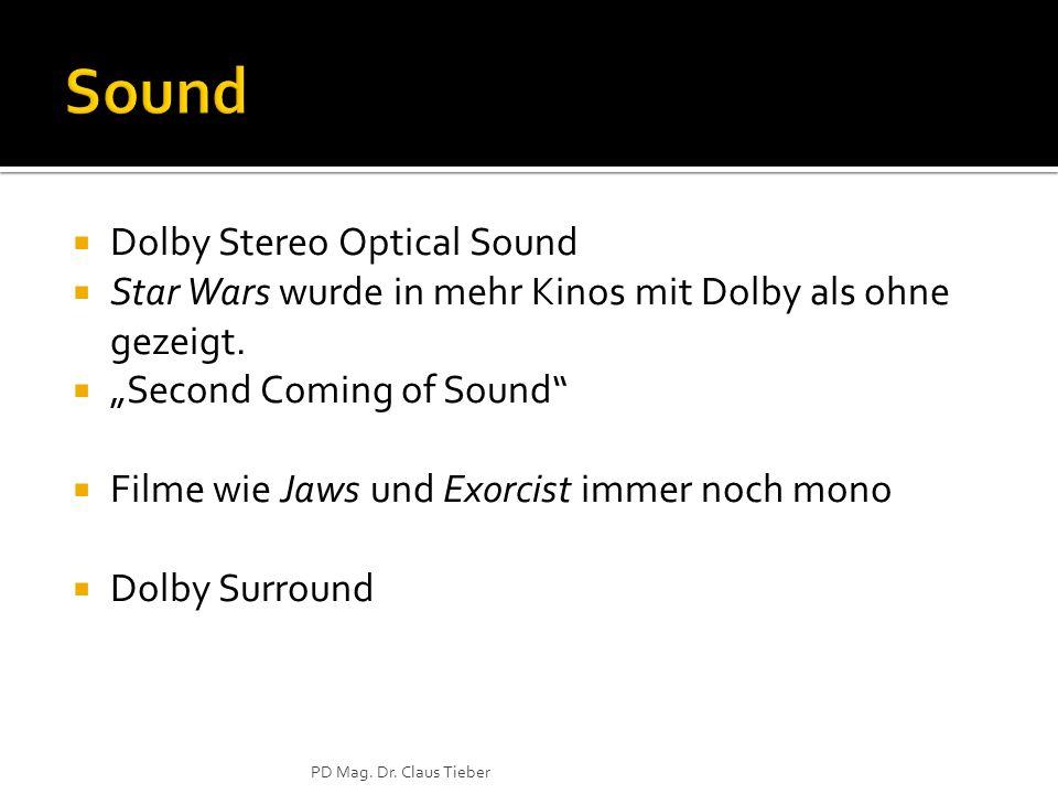 Dolby Stereo Optical Sound Star Wars wurde in mehr Kinos mit Dolby als ohne gezeigt.