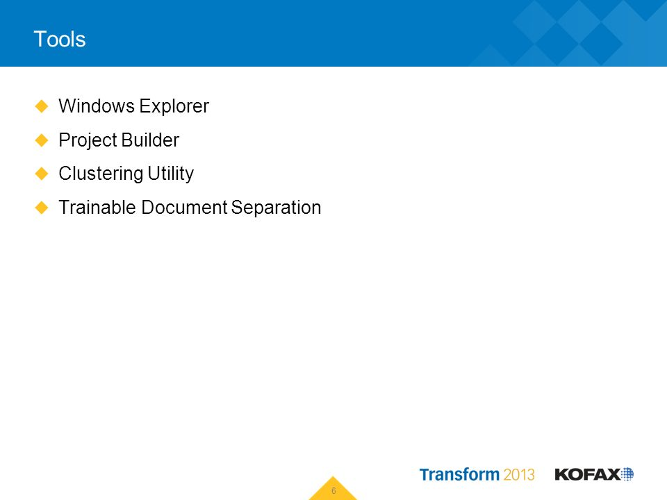 Tools Windows Explorer Project Builder Clustering Utility Trainable Document Separation 6