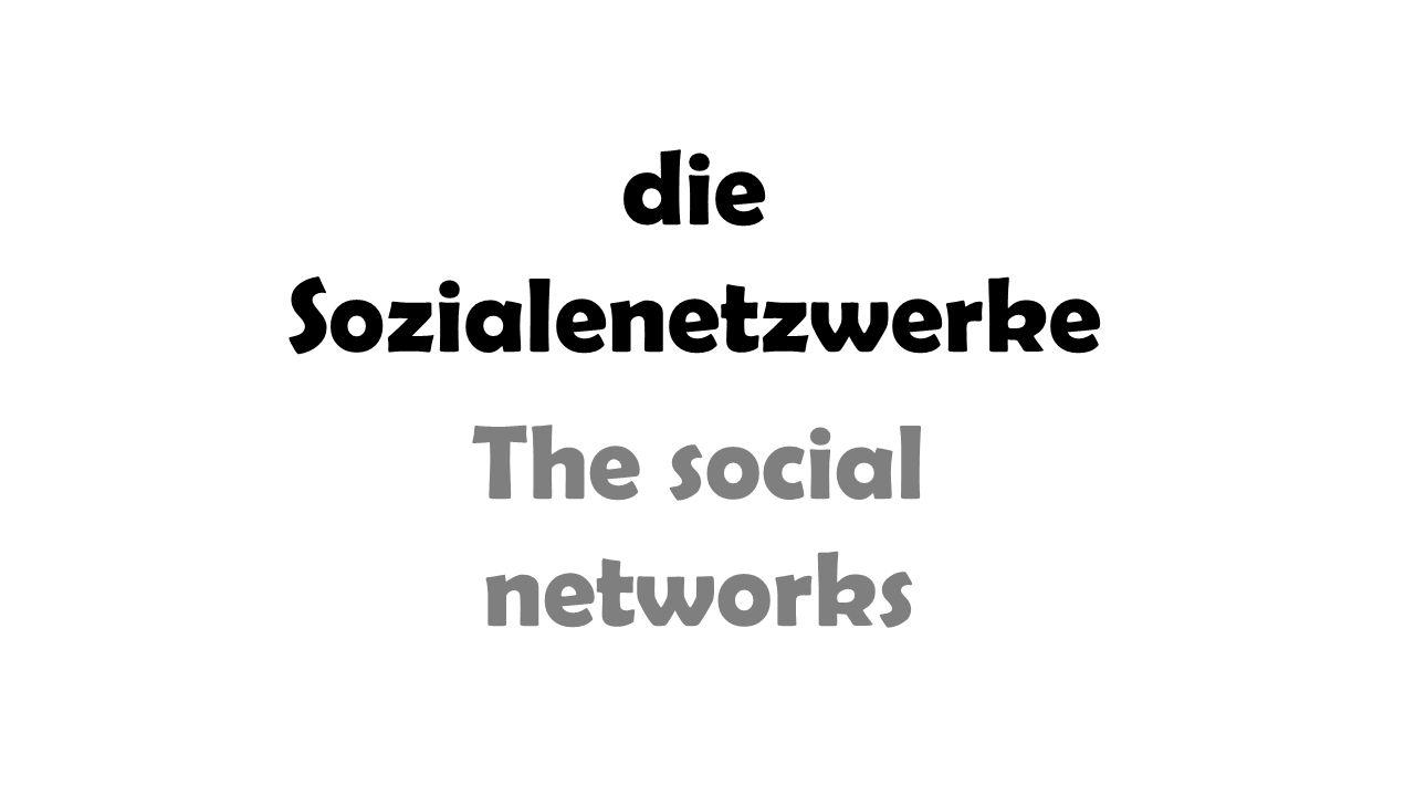 die Sozialenetzwerke The social networks