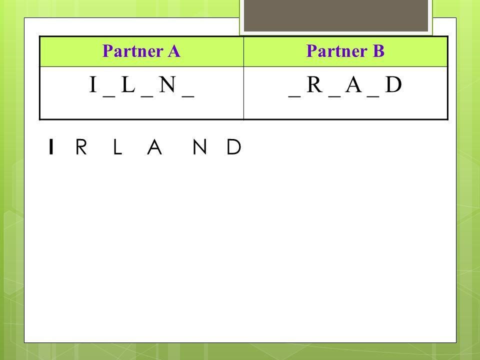 Partner APartner B I _ L _ N __ R _ A _ D I RLAND