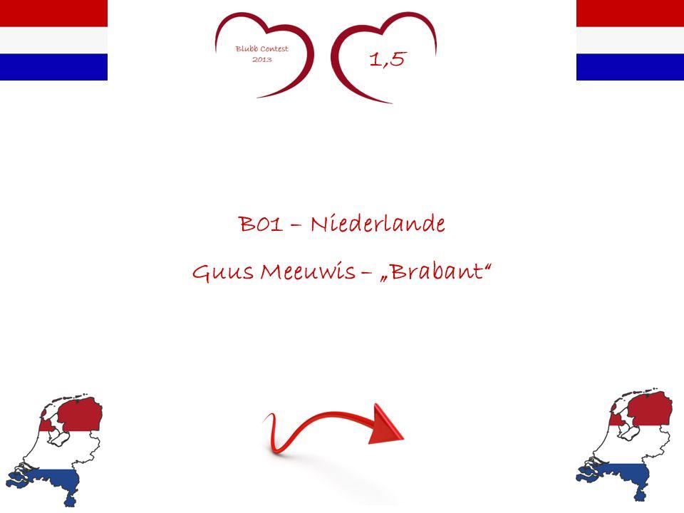 1,5 B01 – Niederlande Guus Meeuwis – Brabant