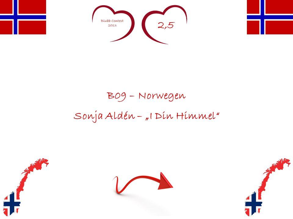 2,5 B09 – Norwegen Sonja Aldén – I Din Himmel