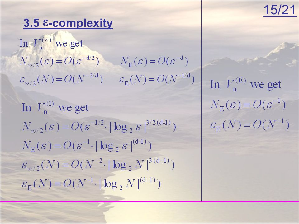 15/21 3.5 -complexity