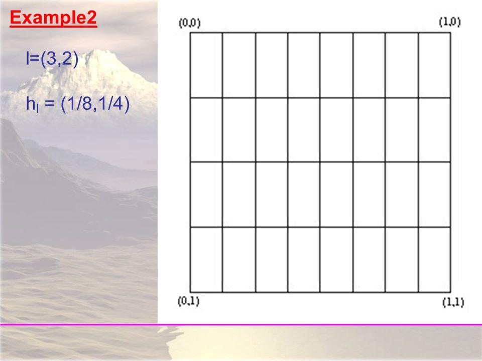 l=(3,2) h l = (1/8,1/4) Example2