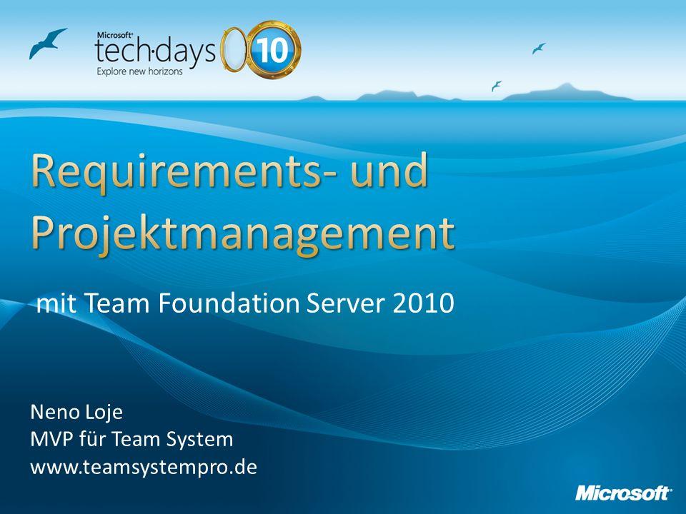 Neno Loje MVP für Team System www.teamsystempro.de mit Team Foundation Server 2010