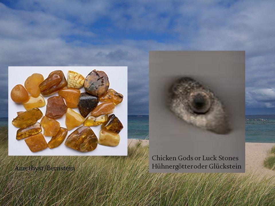 Amethyst/Bernstein Chicken Gods or Luck Stones Hühnergötter oder Glückstein