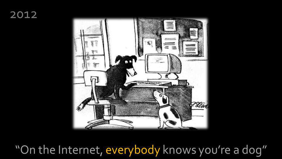 On the Internet, everybody knows youre a dog 2012