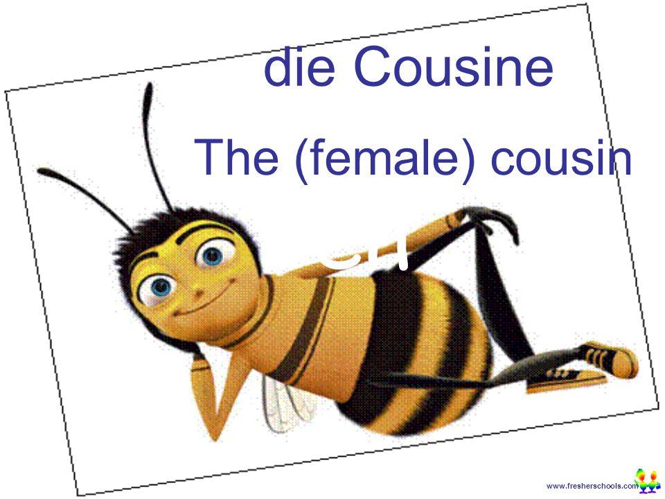 www.fresherschools.com Ben die Cousine The (female) cousin