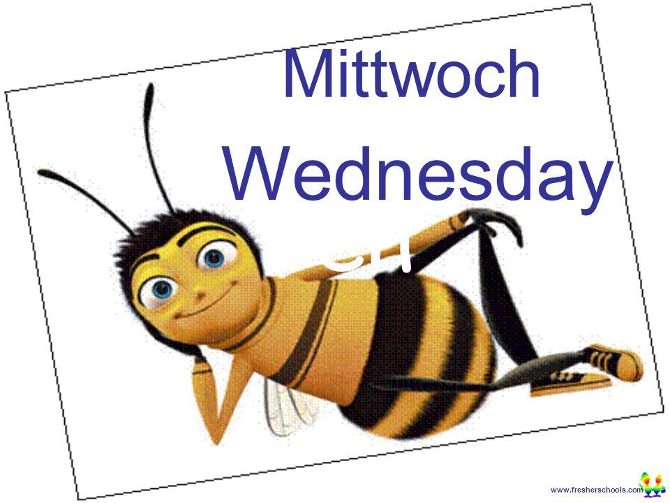 www.fresherschools.com Ben Mittwoch Wednesday