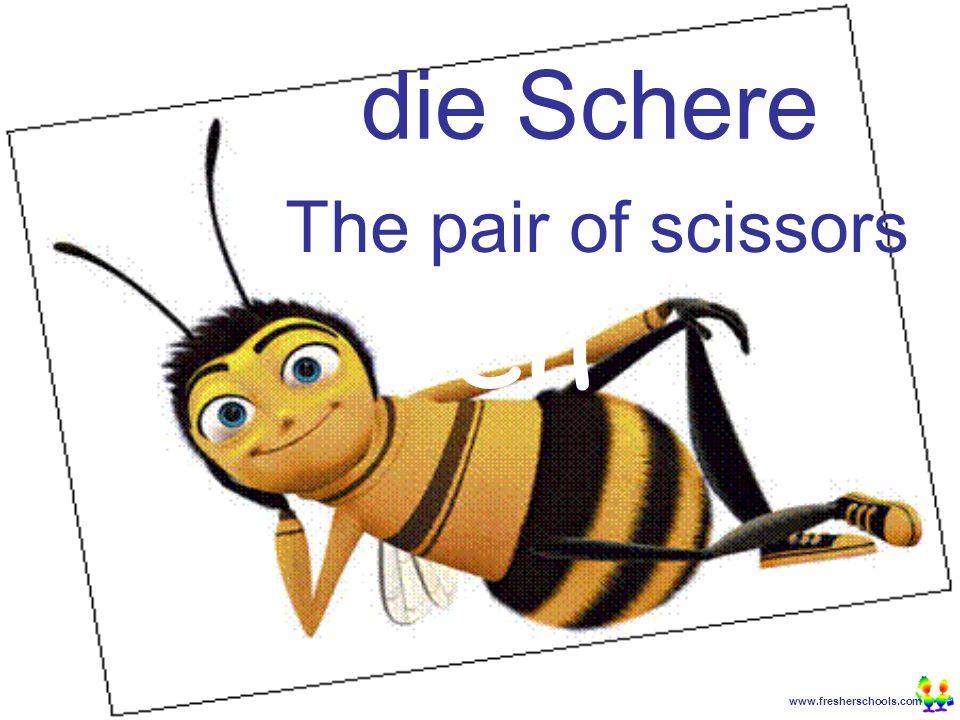 www.fresherschools.com Ben die Schere The pair of scissors