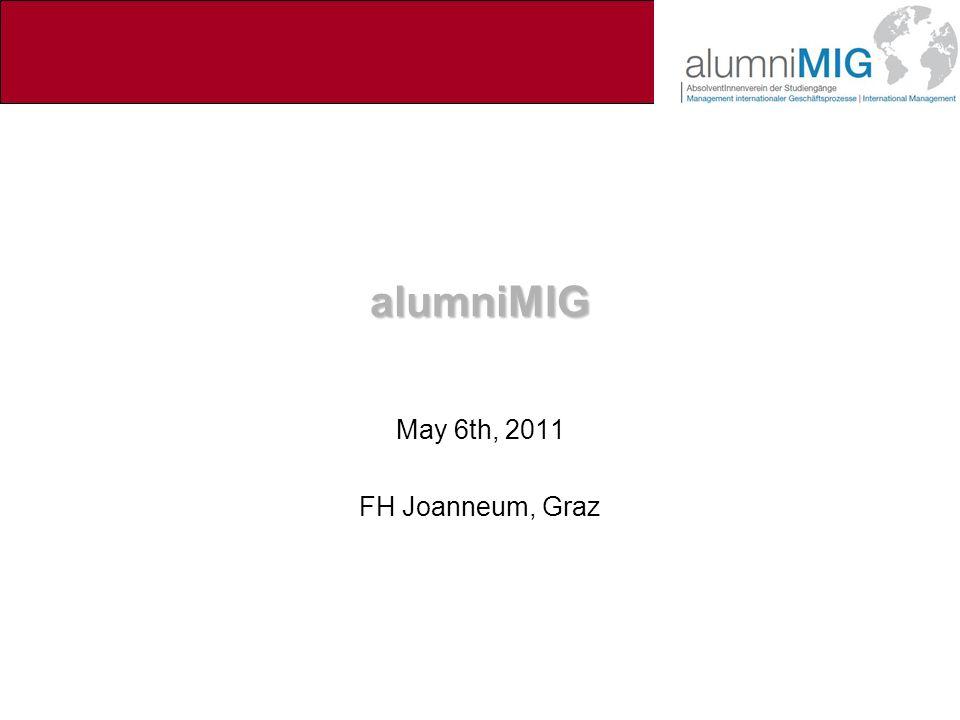 alumniMIG May 6th, 2011 FH Joanneum, Graz