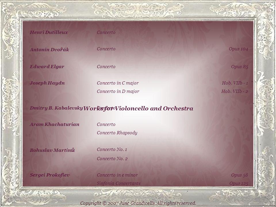 Works for Unaccompanied Violoncello Johann Sebastian BachSuites No.