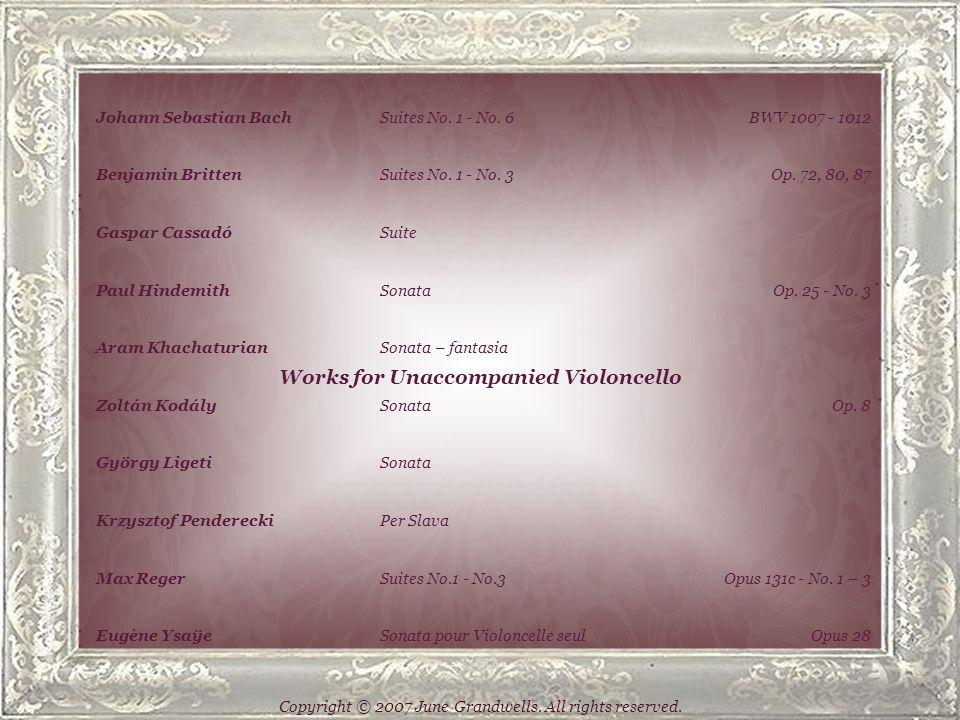 Works for Violoncello and Pianoforte Johann Sebastian BachSonata No.