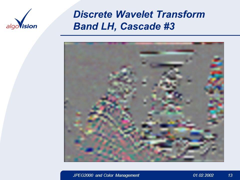 JPEG2000 and Color Management01.02.2002 13 Discrete Wavelet Transform Band LH, Cascade #3