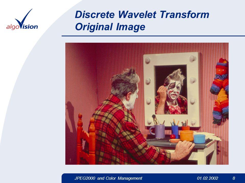 JPEG2000 and Color Management01.02.2002 8 Discrete Wavelet Transform Original Image