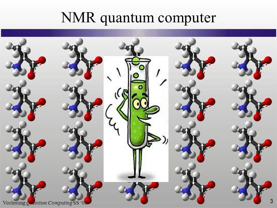 Vorlesung Quantum Computing SS 08 3 NMR quantum computer