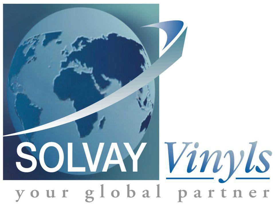 DSPl / HLR Plastics Sector SOLVAY SBU VINYLS 12 June 6-8, 2005 Market evolution: PVC-slush Total estimated European volume 0 2000 4000 6000 8000 10000 12000 14000 16000 19951997199920012003 Tons