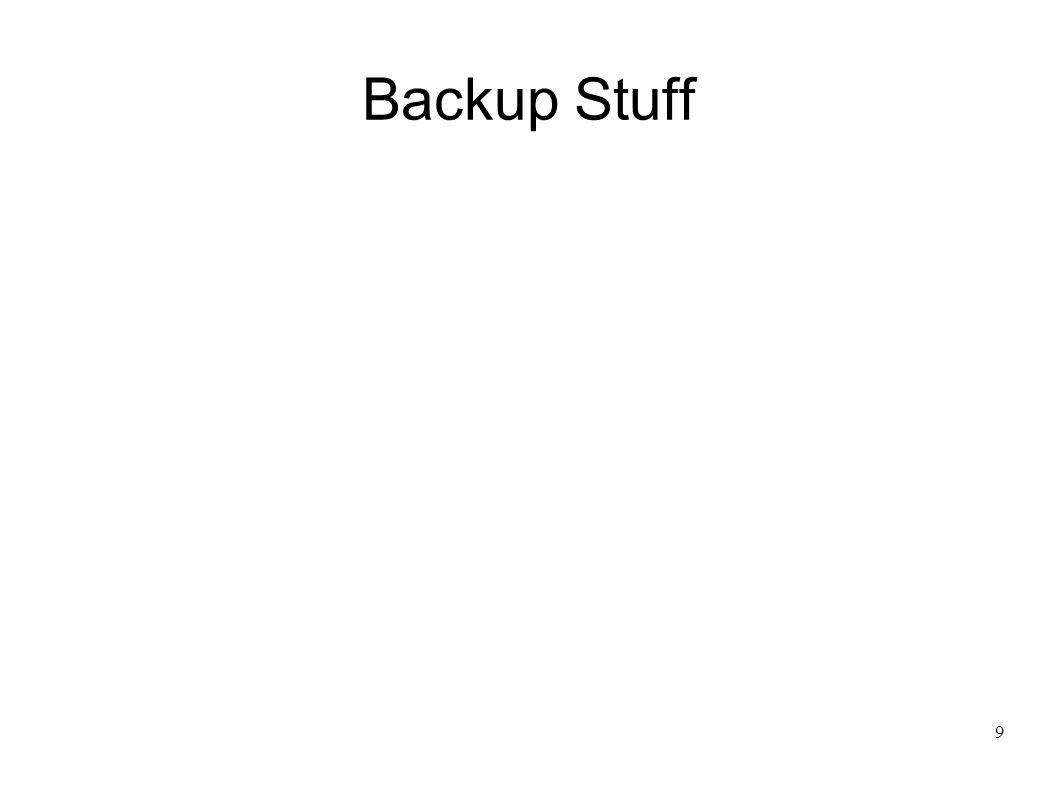 9 Backup Stuff