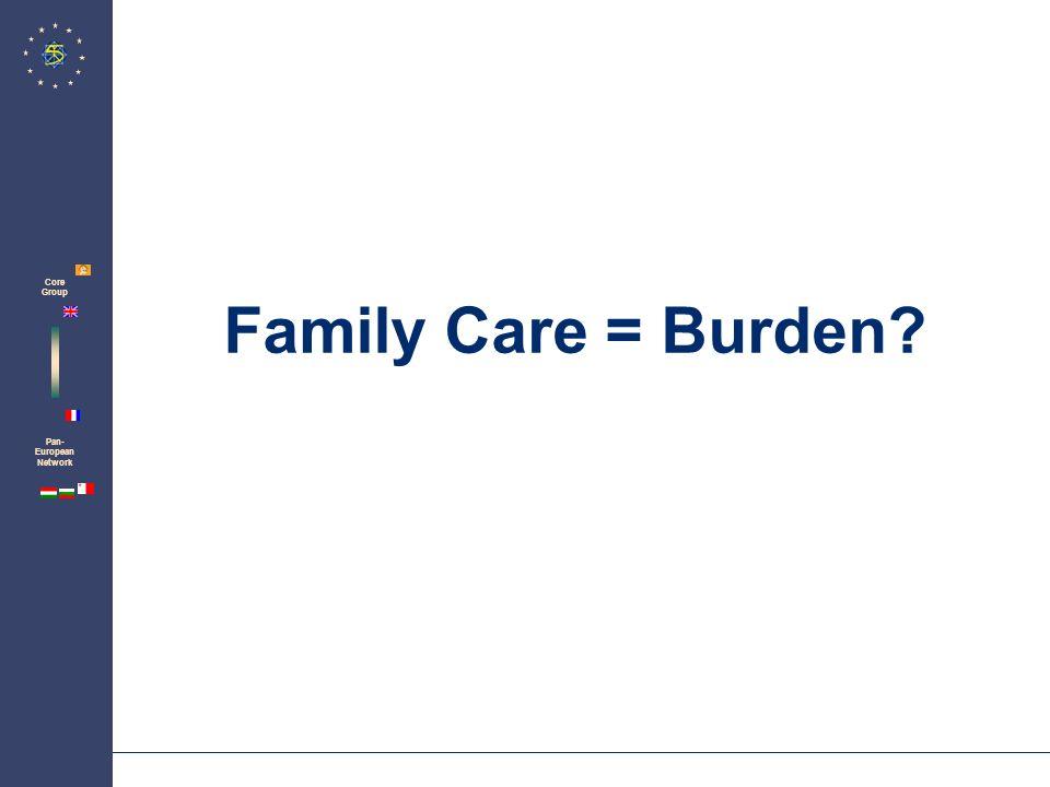 Zentrum für Psychosoziale Medizin Institut für Medizin-Soziologie Family Care = Burden.