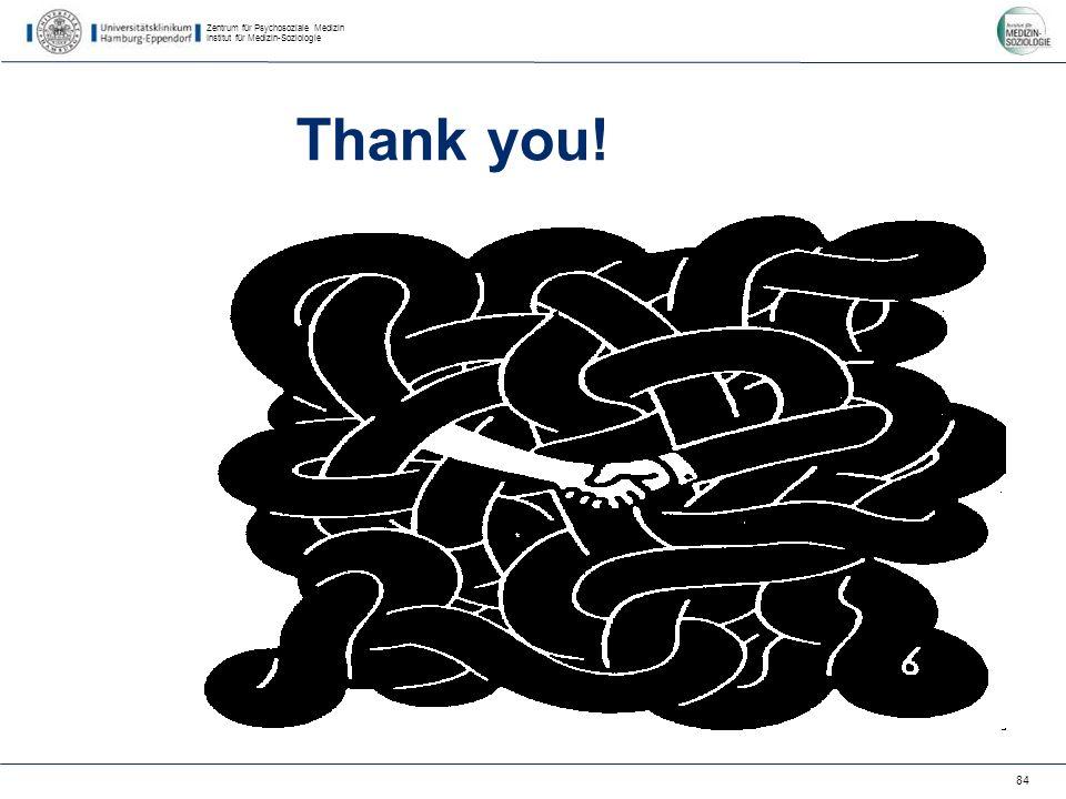 Zentrum für Psychosoziale Medizin Institut für Medizin-Soziologie 84 Thank you!
